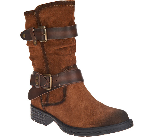 c8c5d79e466 Earth Suede Mid Calf Boots - Everwood - Page 1 — QVC.com