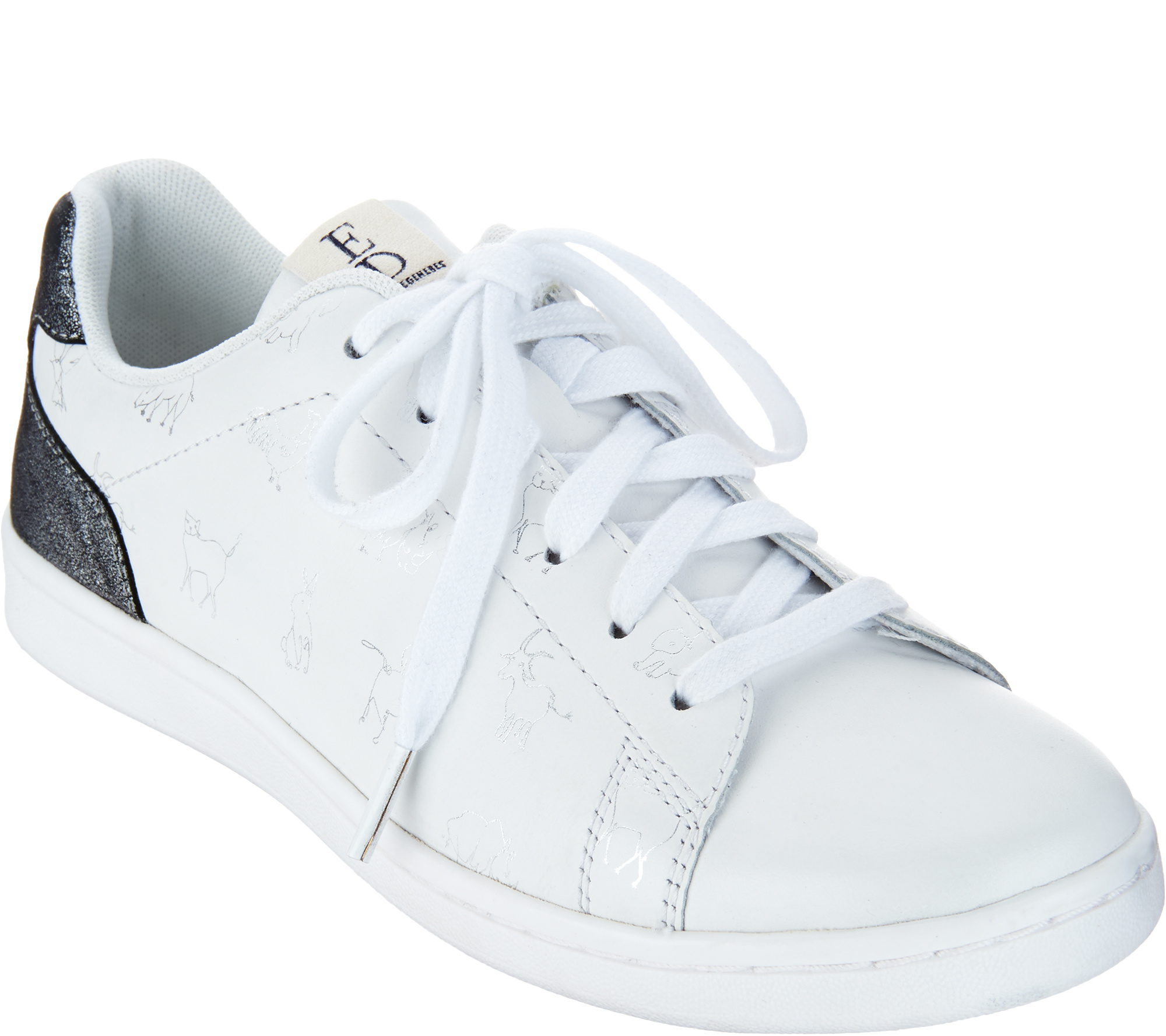 ED Ellen DeGeneres Printed Leather Sneakers - Chaboss