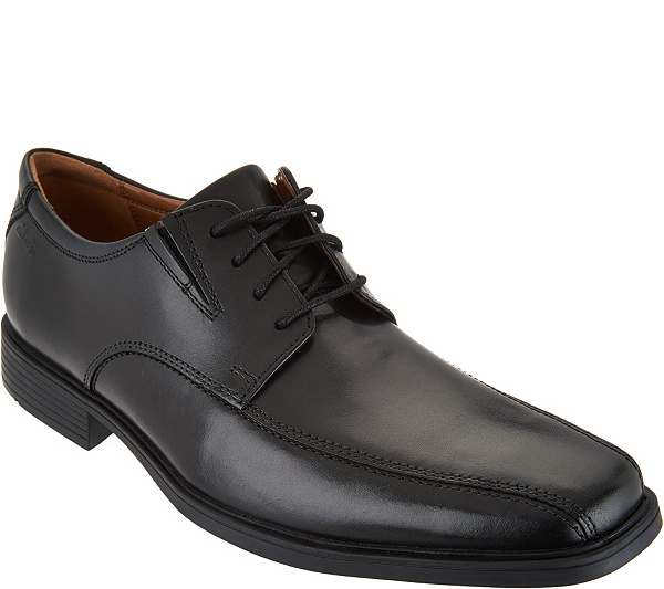 on feet at new products cheapest price Clarks Men's Leather Lace-up Dress Shoes - Tilden Walk — QVC.com