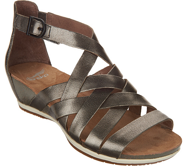 Dansko Leather Multi-strap Wedge Sandals - Vivian discount get to buy sale how much limited edition cheap price bedVQ