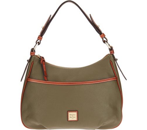0e715237e5b Dooney & Bourke Pebble Leather East/West Collins Shoulder Bag — QVC.com