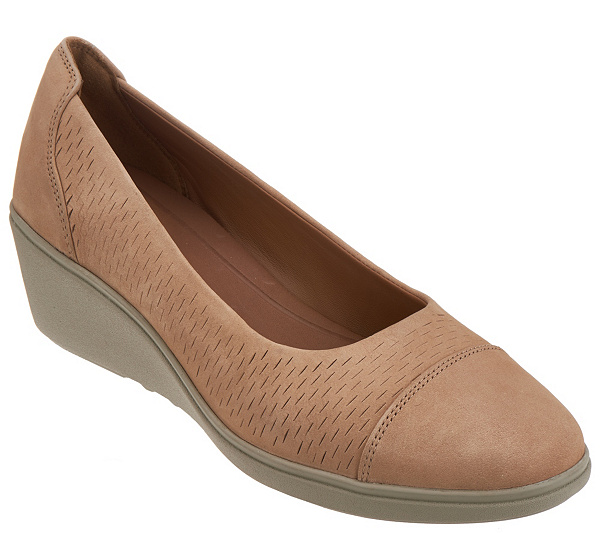 Clarks UnStructured Leather Wedges - Un Tallara Dee clearance Inexpensive get authentic for sale U1VXQcmCt