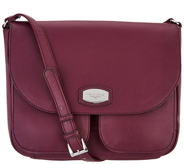 As Is Tignanello Pebble Leather Large Crossbody Handbag Page 1 Qvc