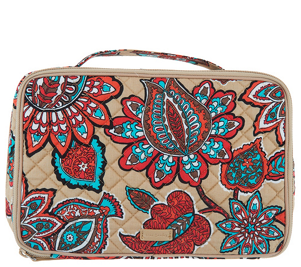 Vera Bradley Iconic Signature Large Blush Brush Cosmetic Case Product Thumbnail Please Select An Option