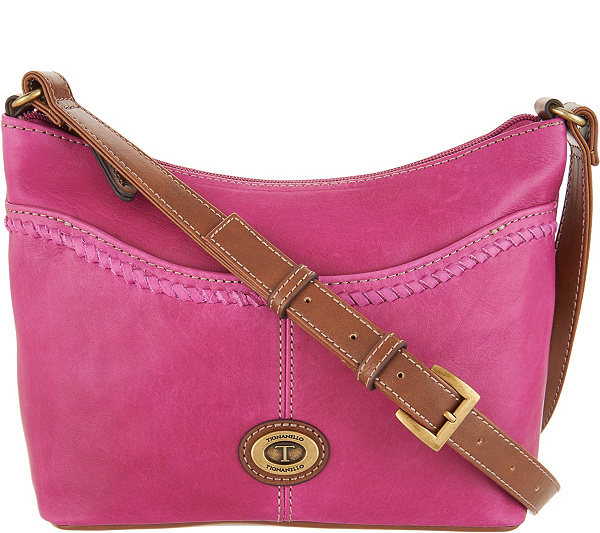 Tignanello Vintage Leather Convertible Crossbody Crosby Back To Video