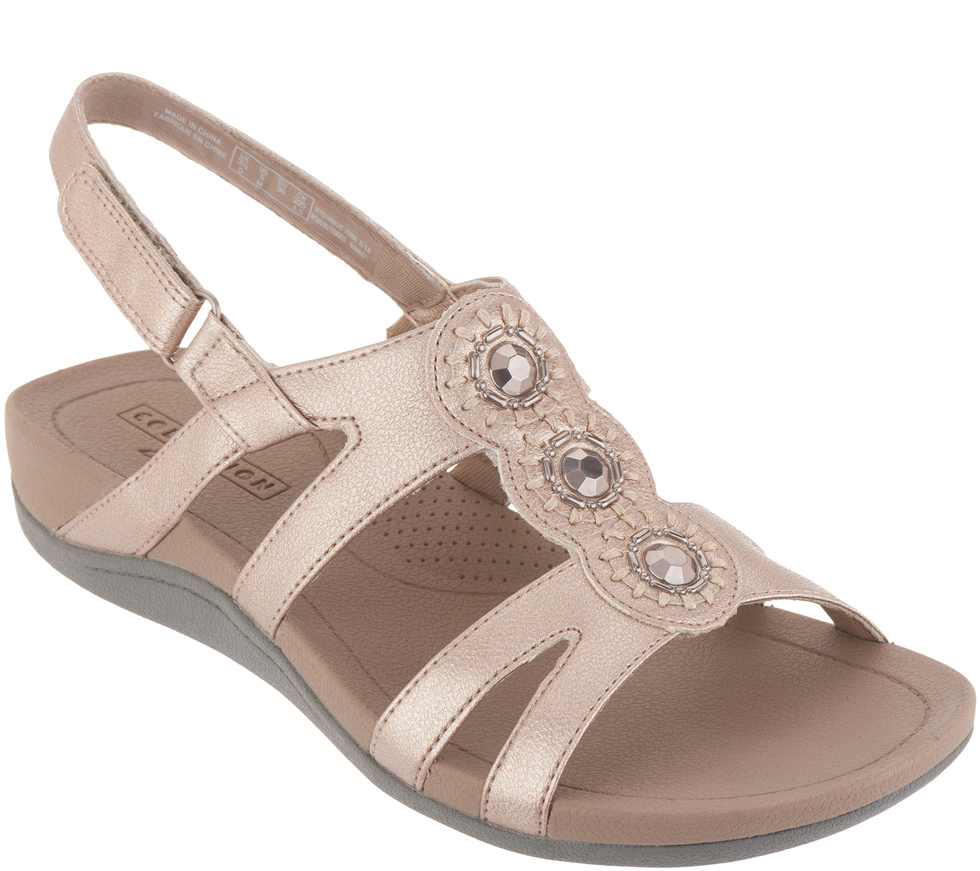 Clarks Embellished Adjustable Sandals - Pical Serino
