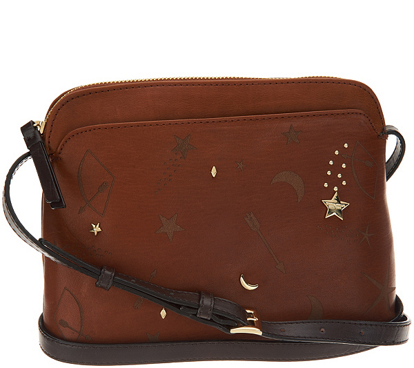 As Is Tignanello Vintage Leather Andromeda Crossbody Qvc
