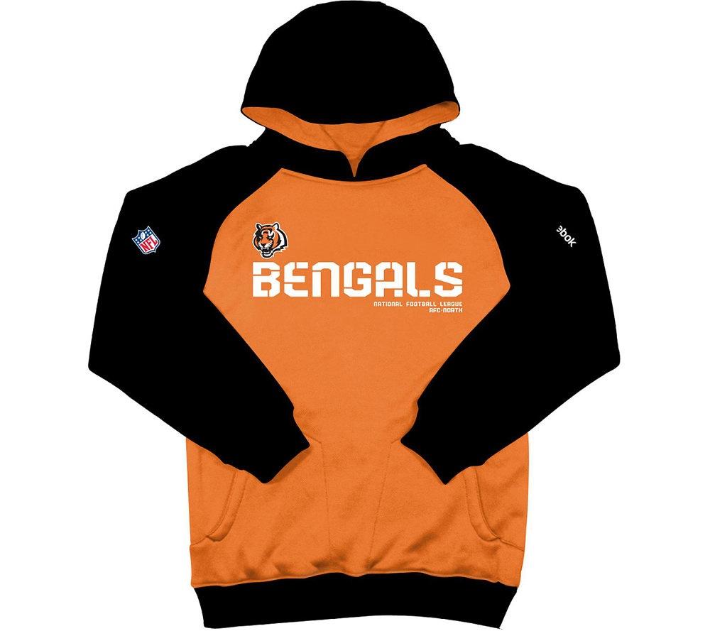 NFL Bengals Youth Sideline Performance Hooded Sweatshirt