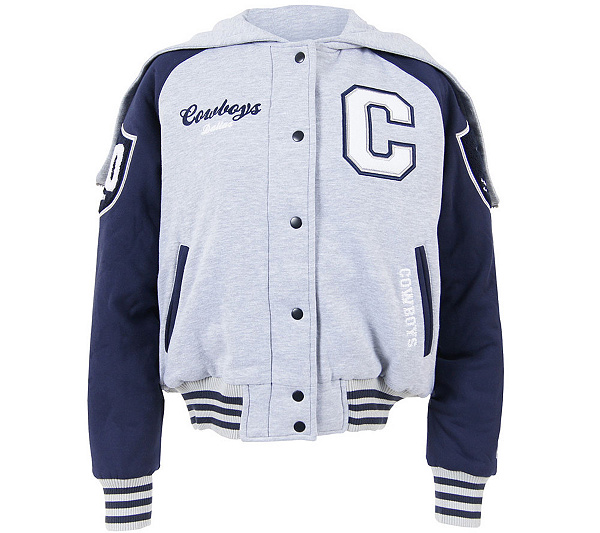 NFL Dallas Cowboys Women s Cheer Hooded Full-Zip Fleece Jacket. product  thumbnail. In Stock a7b9243f82