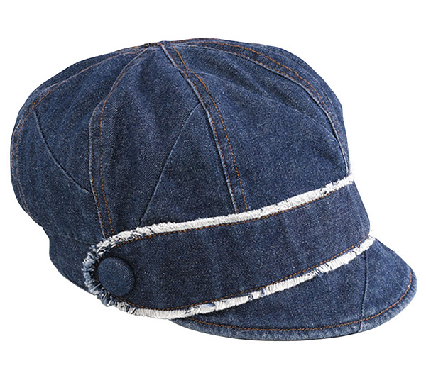 Women s Patchwork Denim Newsboy Hat. product thumbnail. In Stock efce34559bbc