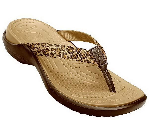 ebbffb231c0b6e Crocs Women s Capri Leopard Print Flip Flop Sandals. product thumbnail. In  Stock