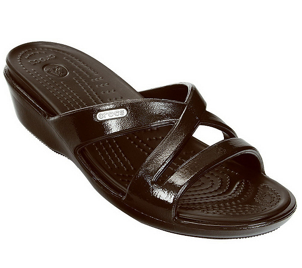 0b4c8cd53764 Crocs Women s Patricia II Patent Wedge Sandals. product thumbnail. In Stock