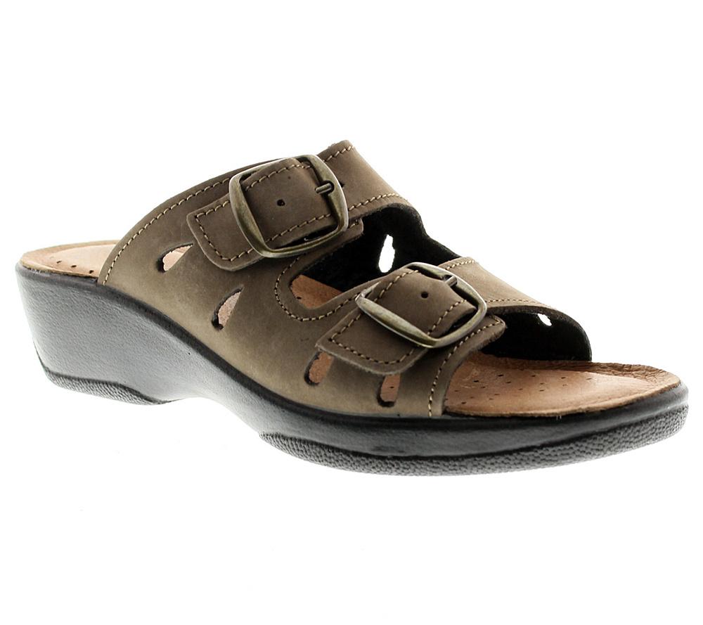 Flexus by Spring Step Decca Leather Slide Sandals