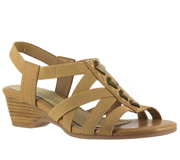 d1563e3523a Bella Vita Pacifica Stretch Fabric Sandals - Page 1 — QVC.com