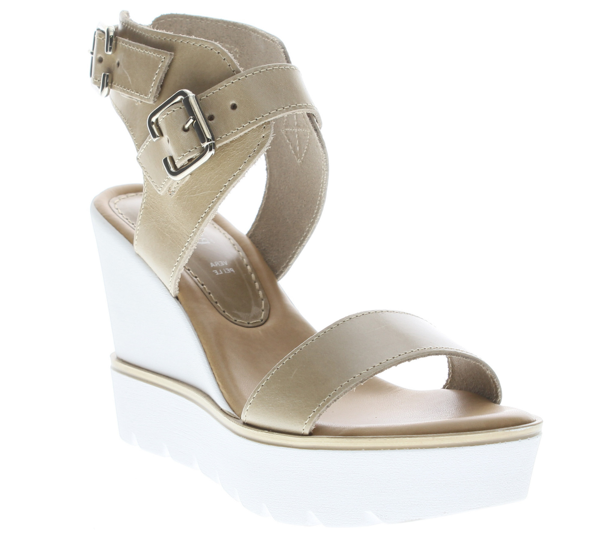 Azura by Spring Step Leather Wedge Sandals - Leticia