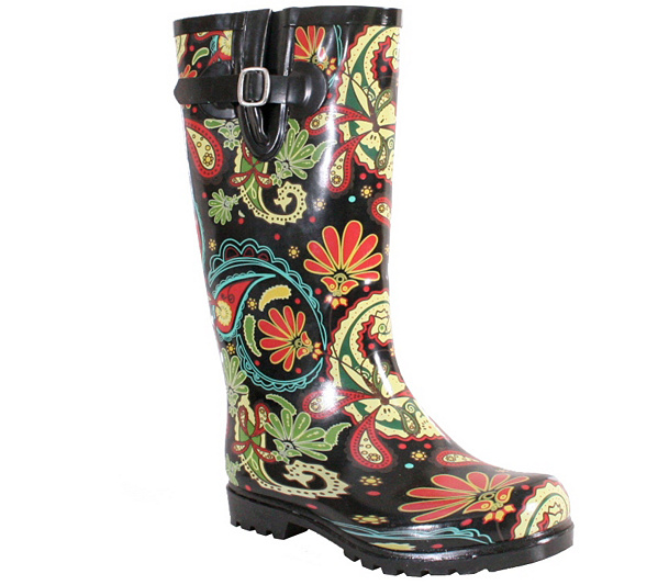 Nomad Rubber Rain Boots - Puddles Paisley new arrival qyo9Vlc