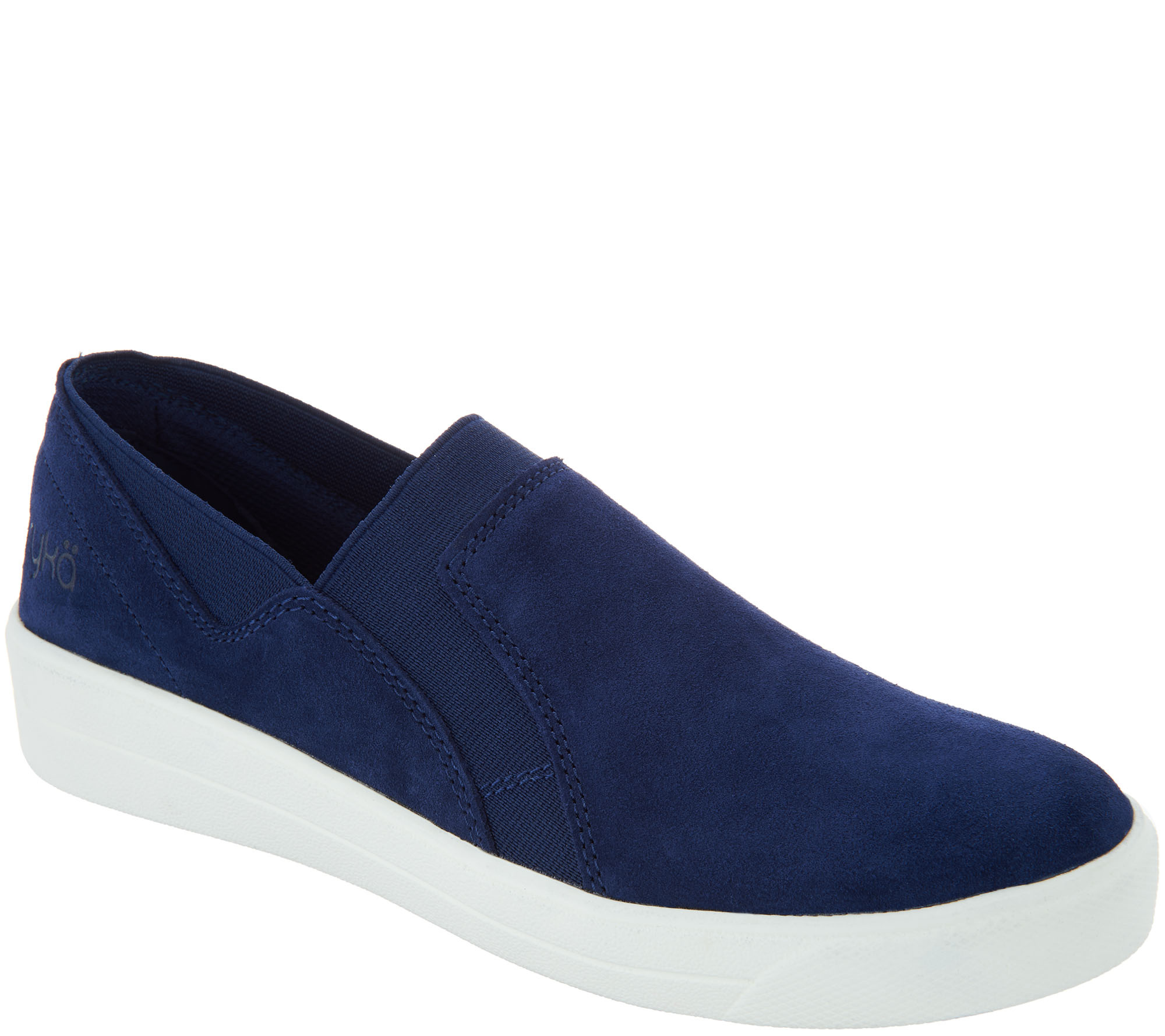 Ryka Suede Double Gore Slip-On Shoes - Verve