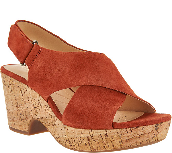 clearance geniue stockist Clarks Artisan Leather Adjustable Wedge Sandals - Maritsa Lara cheap sale low cost free shipping amazon cheap sale prices best sale rlvtq