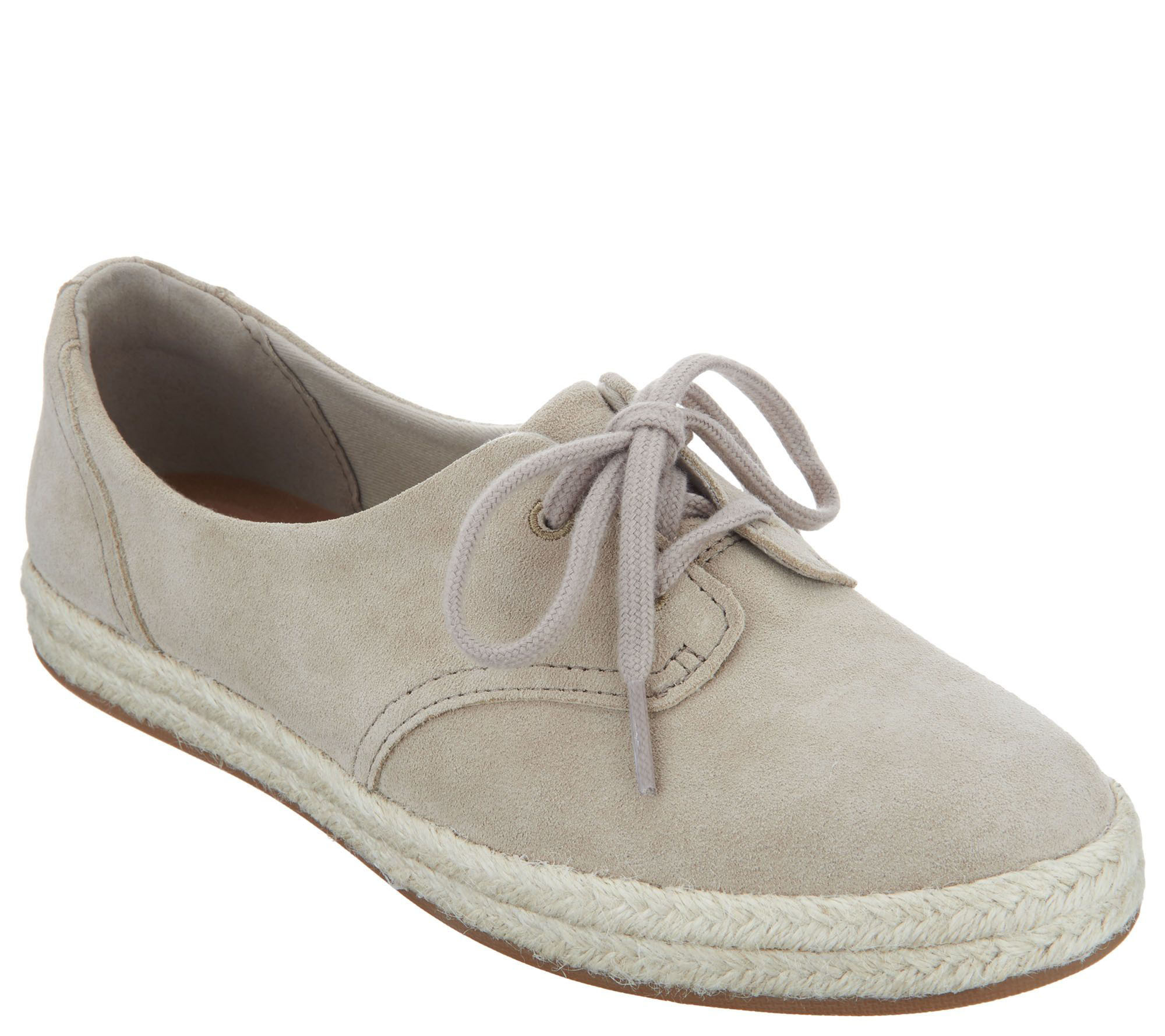 Clarks Suede Lace-up Espadrilles - Azella Jazlynn