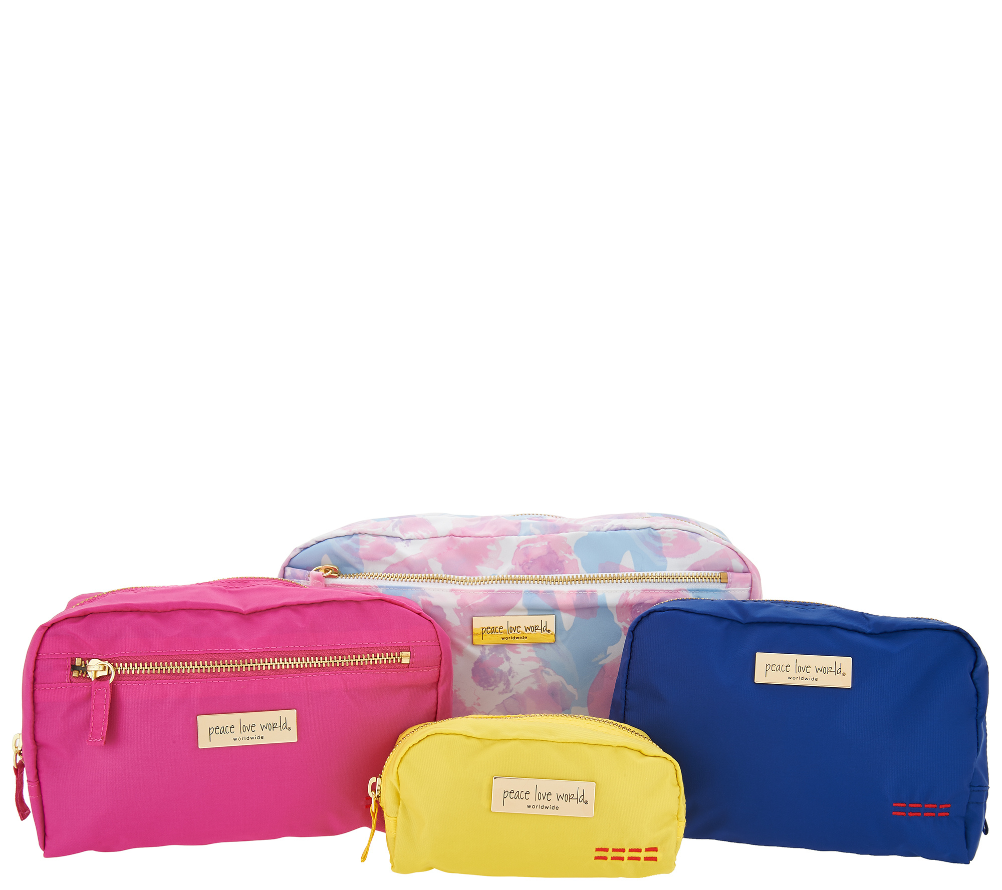 As Is Peace Love World Signature Set Of  Nesto Pouches Qvc Com