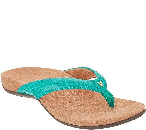 2594d71adac65 Vionic Patent Thong Sandals w   V  Detail - Jen - Page 1 — QVC.com