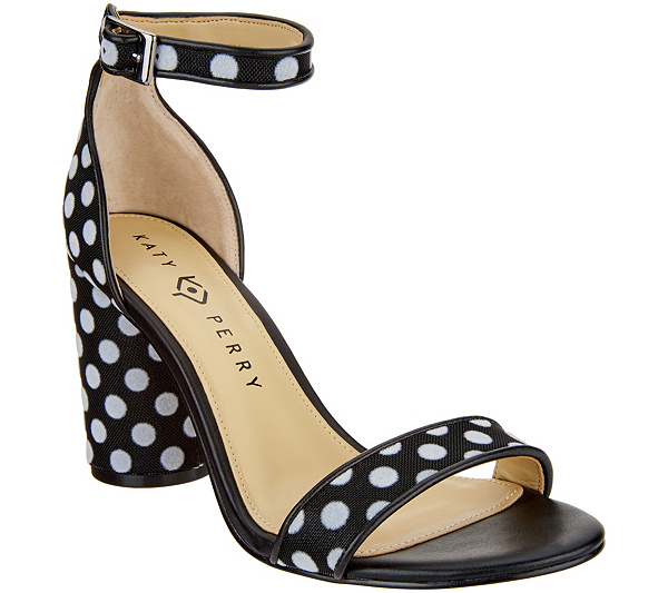 b39d4ea0831 Katy Perry Ankle Strap Heeled Sandals- The Clara - Page 1 — QVC.com