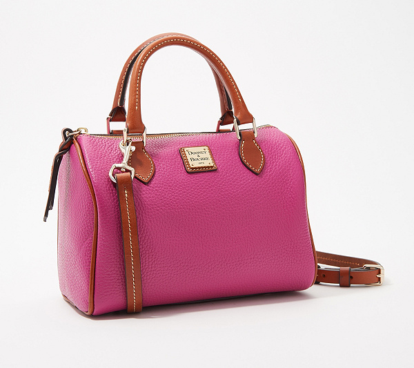 dbcb8bb641 Dooney   Bourke Pebble Leather Trudy Satchel - Page 1 — QVC.com