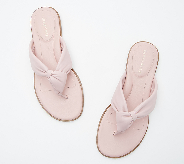 041fdbd8c1ec8b Taryn Rose Leather Knotted Thong Sandals - Karissa. Back to video