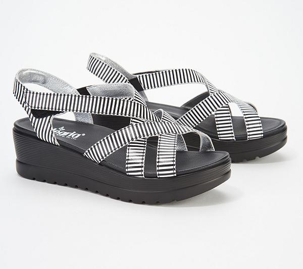 ddef8a70c89cac Alegria Leather Multi-Strap Wedge Sandals- Myka - Page 1 — QVC.com