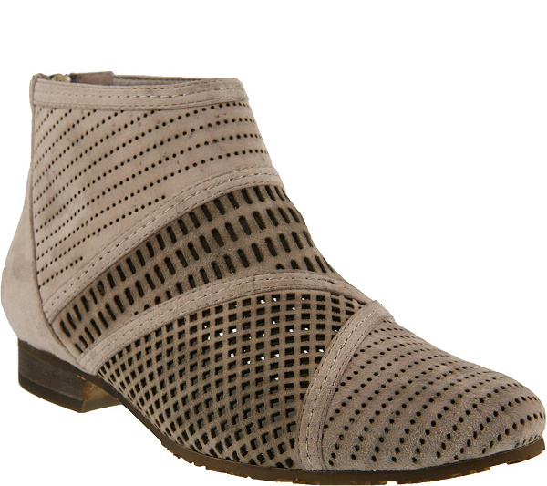 Spring Step Suede Perforated Booties - Sarani fast delivery cheap online big sale cheap low cost with credit card online free shipping really 9xuUdWDPz