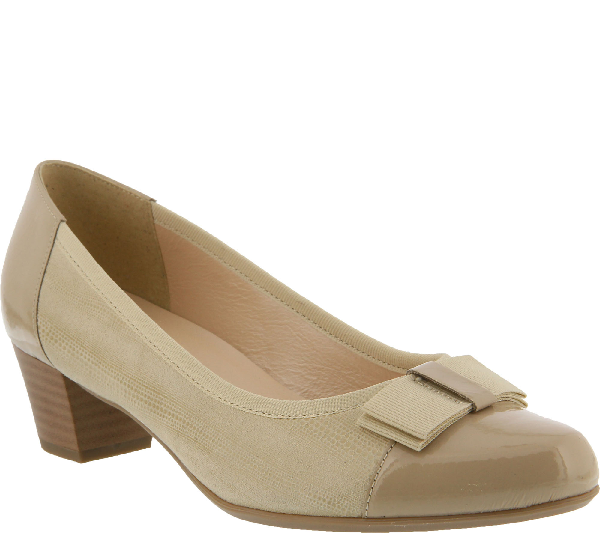 Spring Step Suede and Leather Pumps - Faith