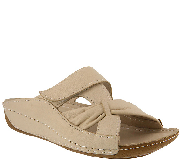 Spring Step Leather Slide Sandals - Gretta free shipping visit new free shipping very cheap NE8ScHaB