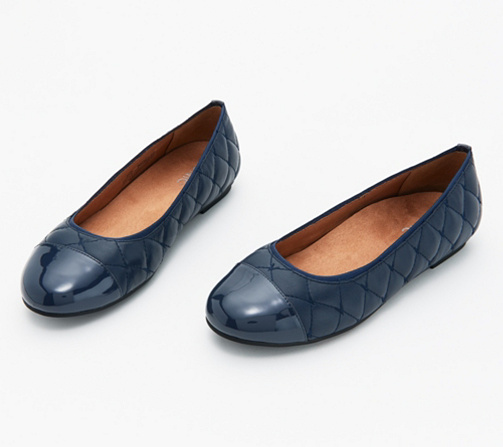 Vionic Quilted Leather Flats   Desiree by Vionic®