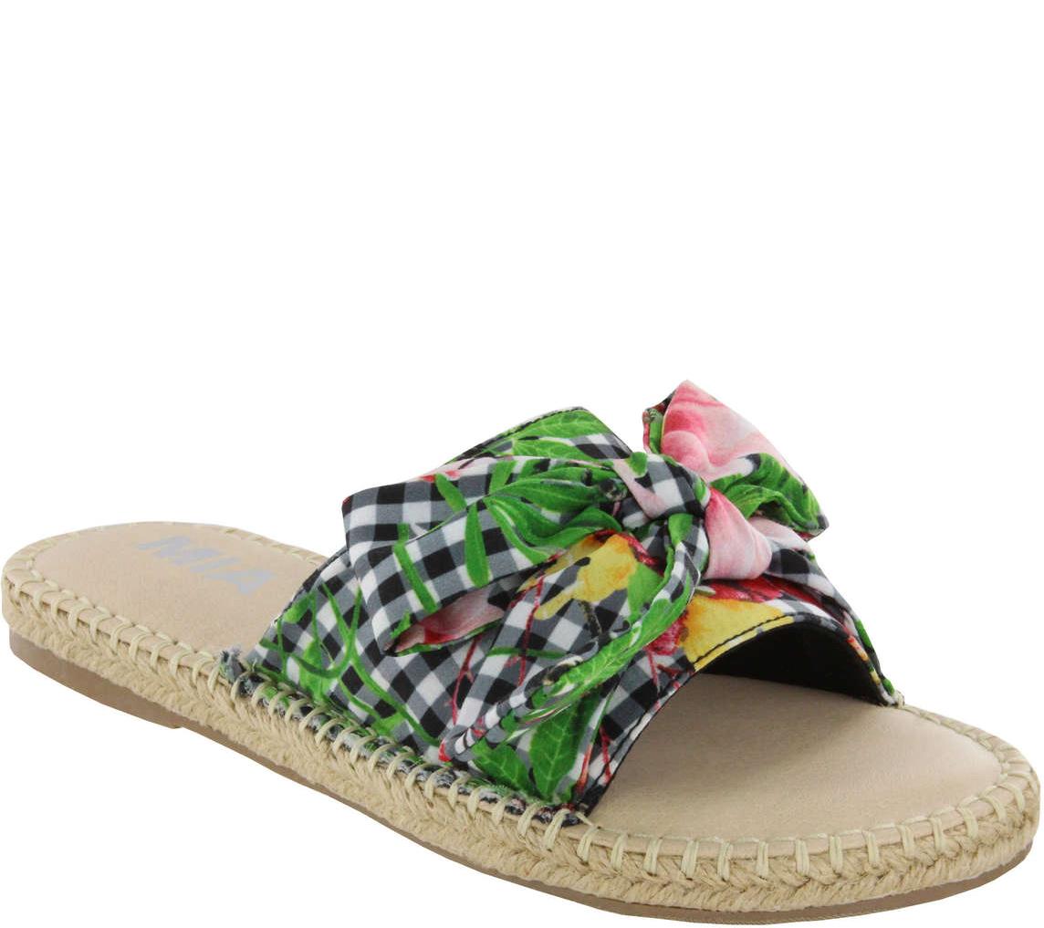 MIA Shoes Flat Slide Sandals - Brenda