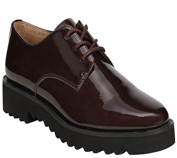 clearance nicekicks for sale Franco Sarto Lace Up Patent Oxfords - Conroe free shipping official 5i1rkGIY