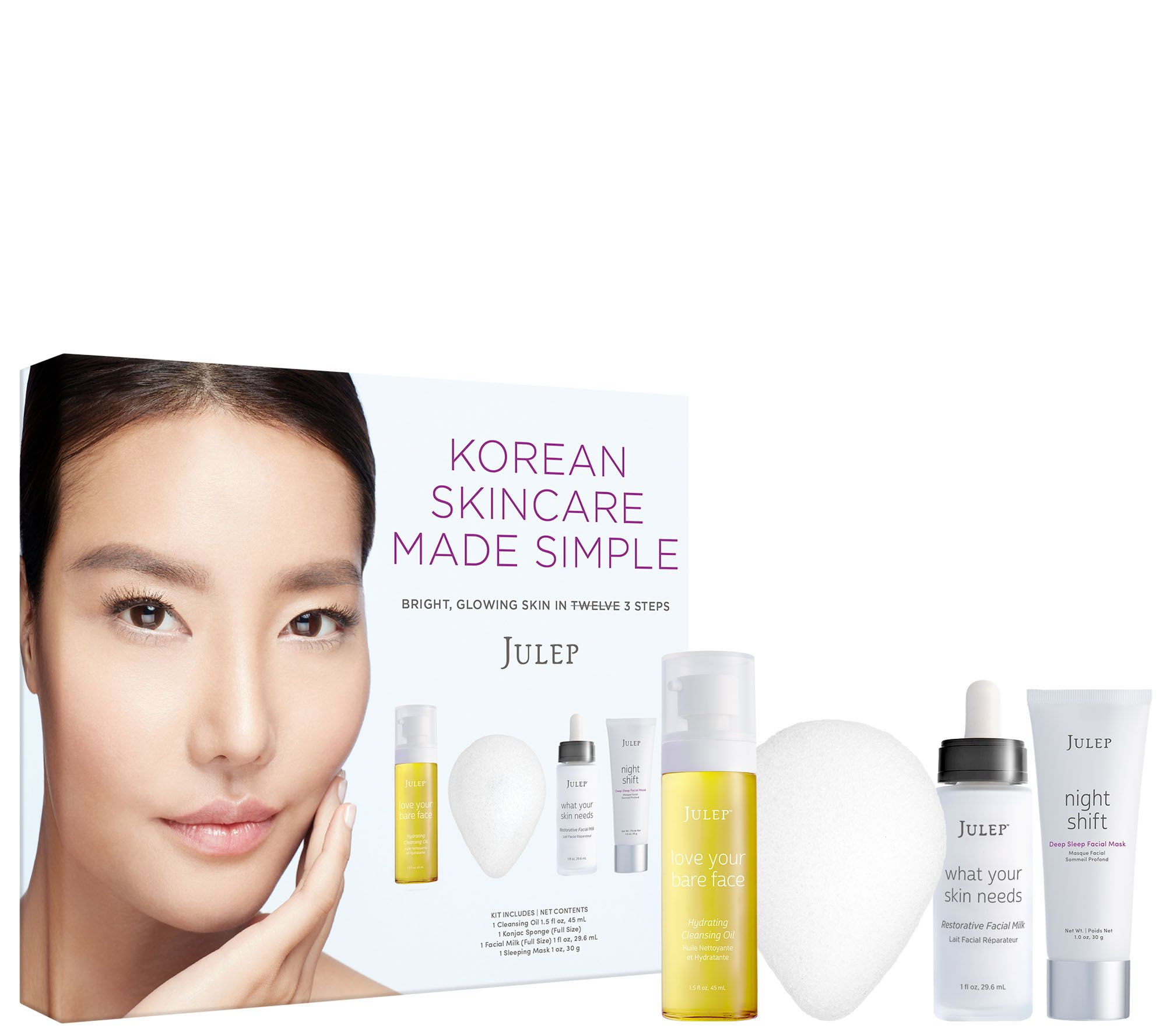 Julep Korean Skincare Made Simple Starter Set Cold Brew Face Sheet Mask - 1 Count Limited Edition by The Creme Shop (pack of 3)
