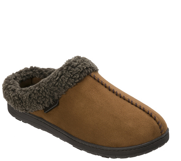 2fbe1e037c0 Dearfoams Men s Microsuede Slipper Clogs with Whipstitch. product  thumbnail. In Stock