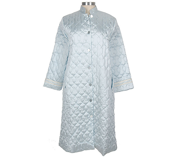 d94aaf8381f Carole Hochman Quilted Satin Long Sleeve Button Front Robe - Page 1 —  QVC.com