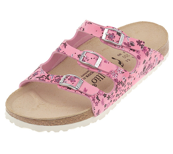 a72d1b10b818 Birkenstock Butterfly Print Adjustable Triple Strap Comfort Slides. product  thumbnail. In Stock