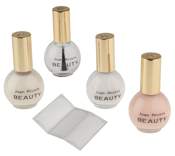Joan Rivers Beauty French Manicure 4-piece Kit w/ 36 Nail Tapes ...