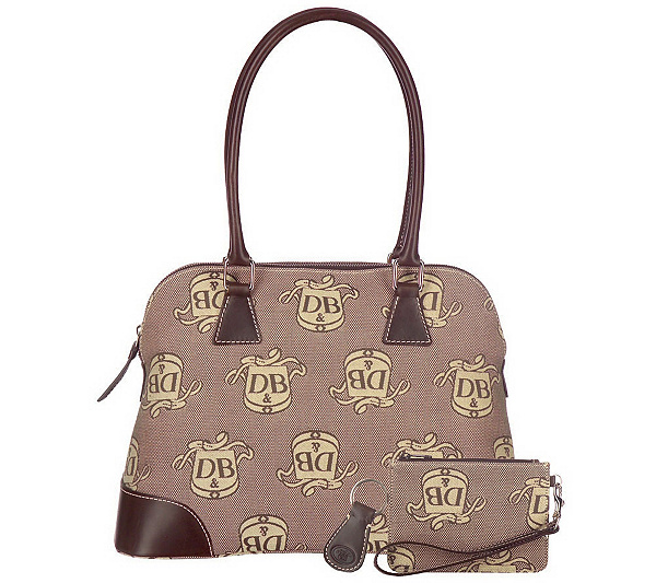 ebb43acaee Dooney   Bourke Donegal Crest Domed Satchel w Leather Trim   Accessories.  product thumbnail. In Stock