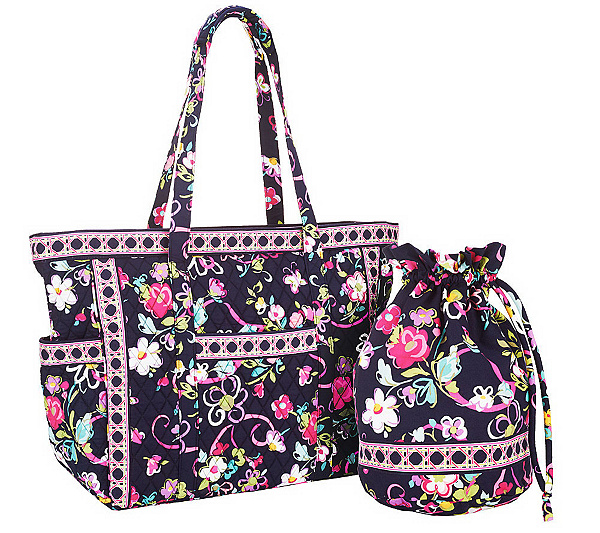7ac8b68f3d0c Vera Bradley Signature Print Get Carried Away Tote   Ditty Bag. Back to  video. On-Air Presentation