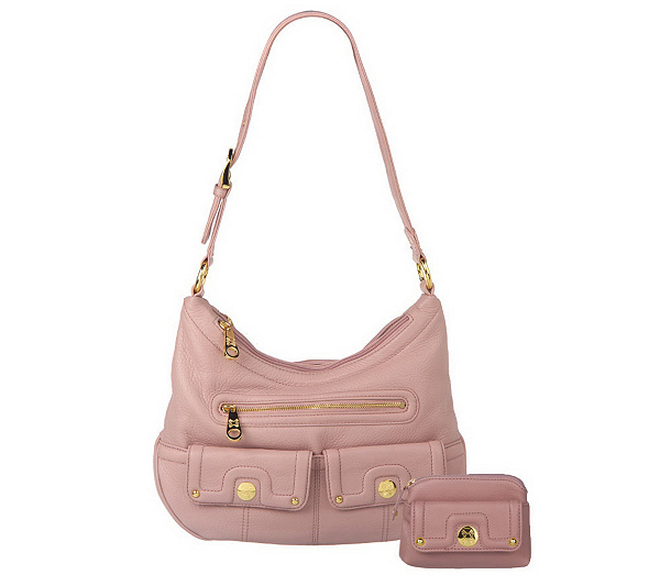 Stone Mountain Madison Leather Triple Entry Hobo Bag With Coin Purse Page 1 Qvc