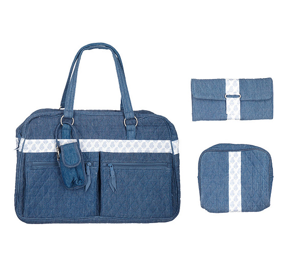 Lemon Hill Quilted Cotton Weekender Bag W 3 Accessory Pieces Page