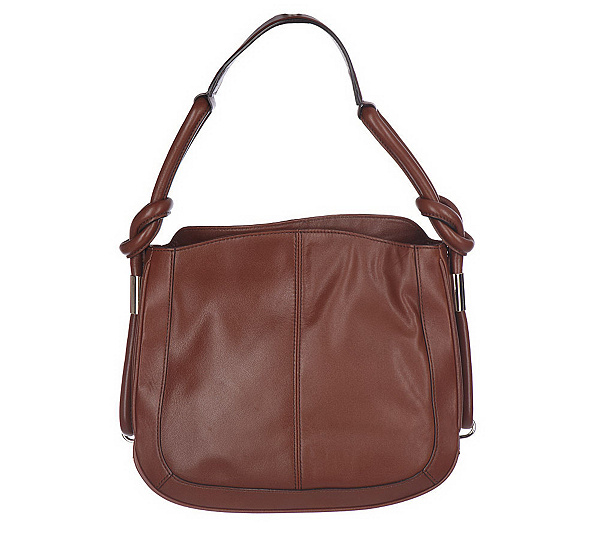 3515d55eca AK Anne Klein Leather Slouchy Hobo Bag with Strap Detail - Page 1 ...