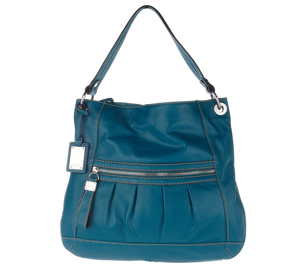 7957f3a3b9 Tignanello Glove Leather Hobo Bag with Pleated Front Pocket. product  thumbnail. In Stock