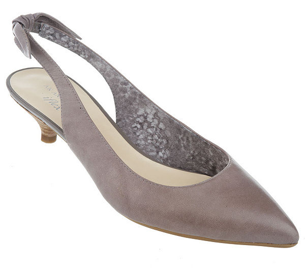 72e348350d5d AK Anne Klein Leather Pointed Toe Pumps on Kitten Heel. product thumbnail.  In Stock