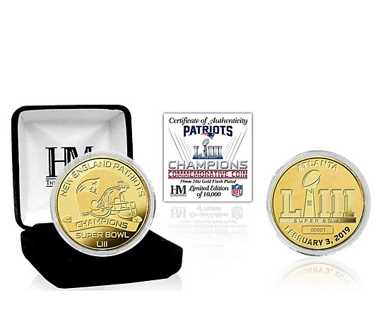 New England Patriots Super Bowl LIII ChampionsGold Mint Coin