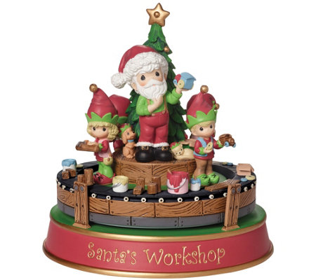 Precious Moments Santa's Workshop Deluxe MusicBox