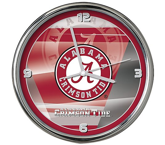 "NCAA 12"" Shadow Chrome Clock"
